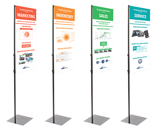 Tradeshow banners, front side