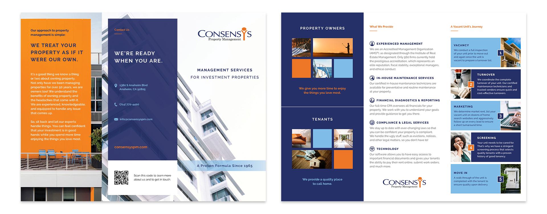 ConsensYs tri-fold brochure design