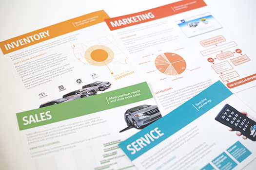 Tradeshow handouts, front sides