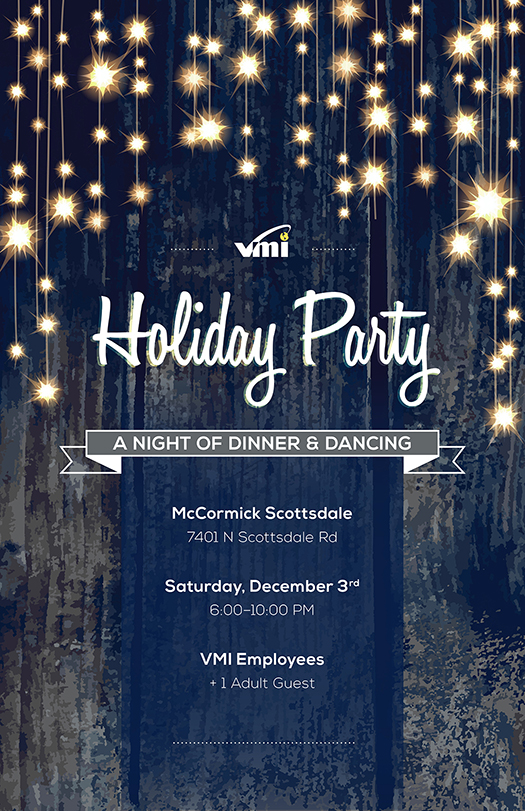 VMI Holiday Party poster