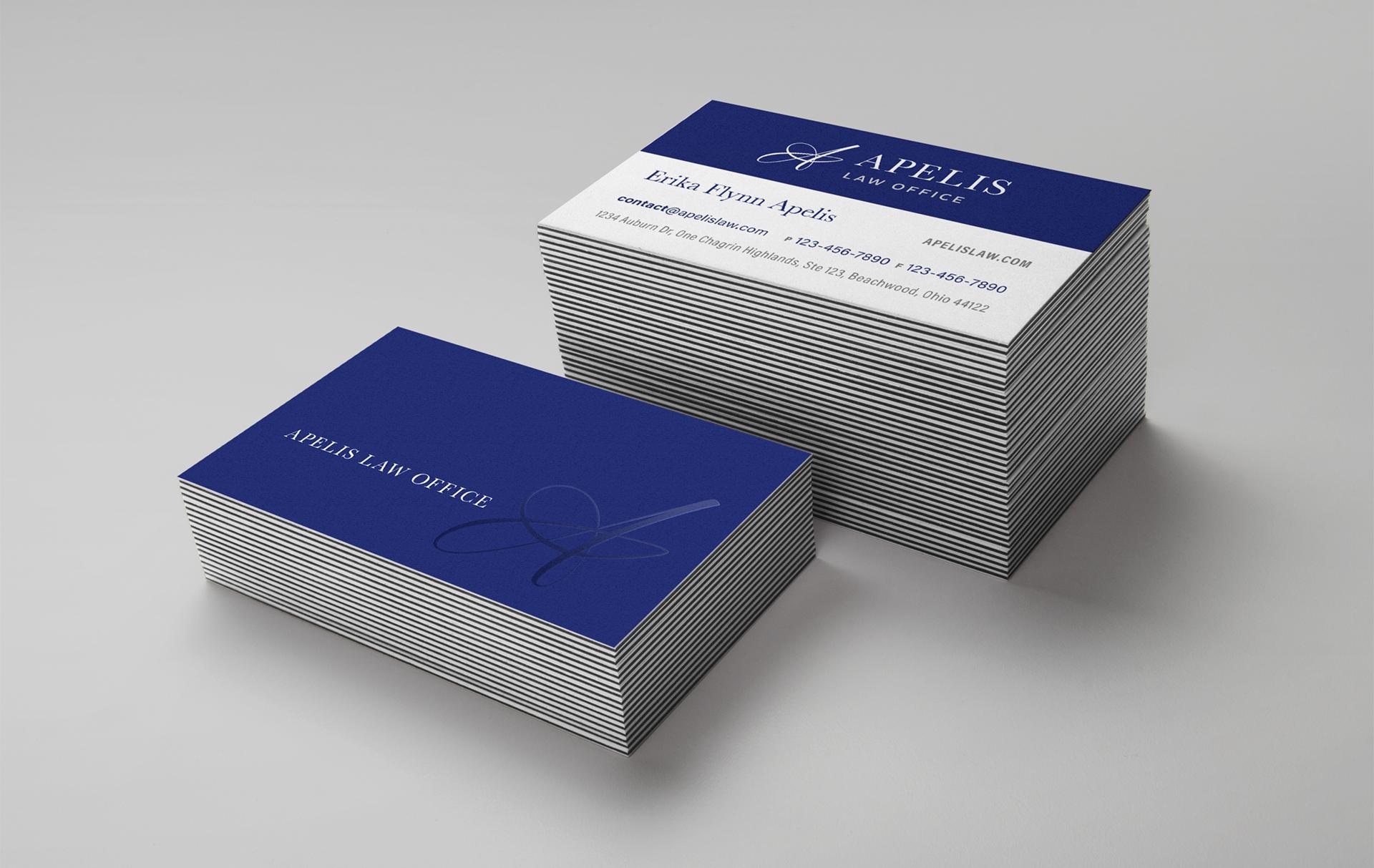 Apelis Law Office business card design