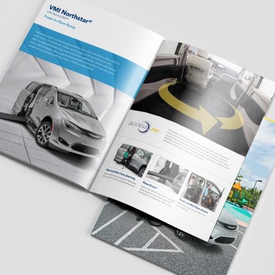 VMI product brochure mockup