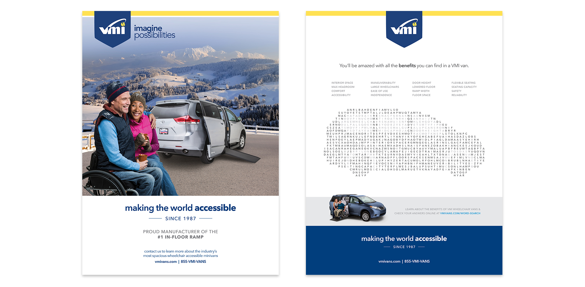 2 VMI full page advertisements